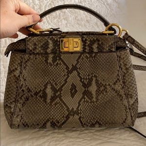 Fendi Mini Peekaboo Satchel